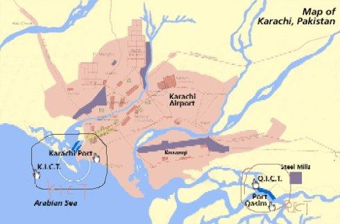 卡拉奇港口的三个码头