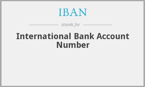 IBAN NUMBER(IBAN CODE)——欧洲国际银行帐户号码