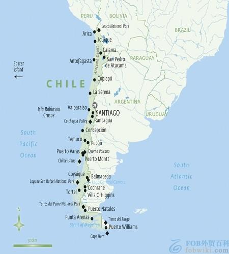 智利港口地图