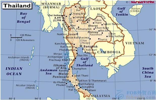 泰国港口地图