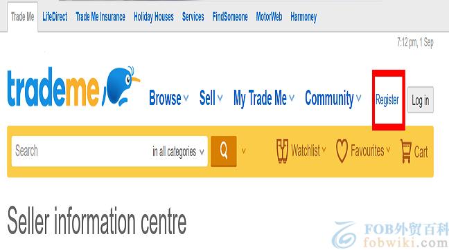 Trade Me官网主页