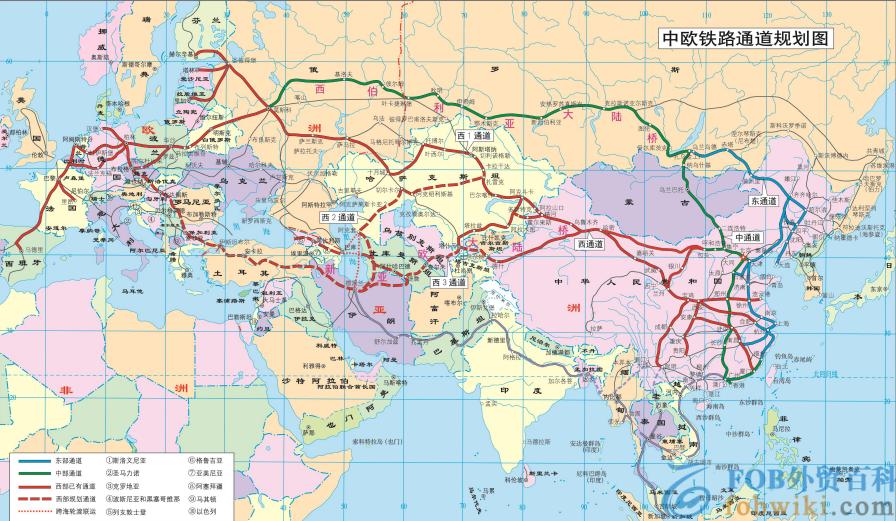 中欧班列路线图_郑州/西安/成都/武汉/重庆等班列路线